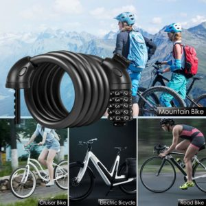 Apollo Bike Lock Bicycle Cable Lock with Digit Combination 60cm